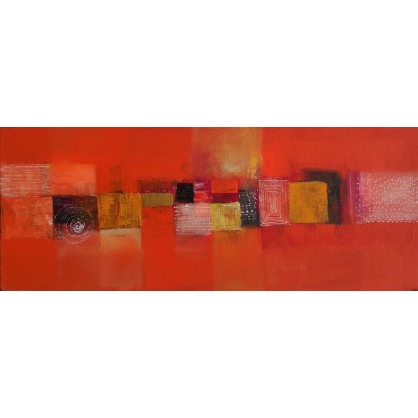Tableau orange chic 100x40 cm