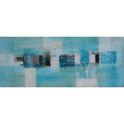 Tableau déco acrylique bleu turquoise 120x50 cm
