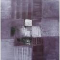 Petite toile à dominante pourpre 40x40 cm