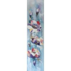 Tableau moderne fleurs 120x30 cm