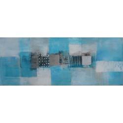 Tableau tendance bleu turquoise 100x40 cm