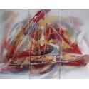 VOILIER TABLEAU TRIPTYQUE- 90x70 cm