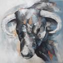 Cadre peinture toro 80x80 cm
