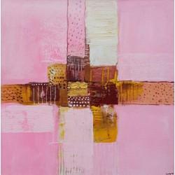 Mini tableau rose carré 40x40 cm