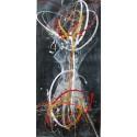Tableau vertical danseuse sur fond gris foncé- 150x70- Suarsa
