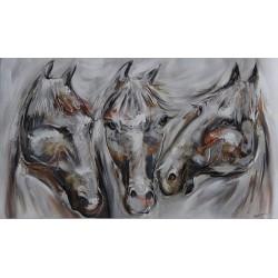 Peinture de chevaux- 140x80-Budi