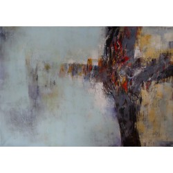 Peinture XXL abstraite moderne : MORNING SHADE, 200x140 cm