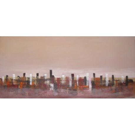 City- Tableau ville déco contemporain 140x65- Suarsa