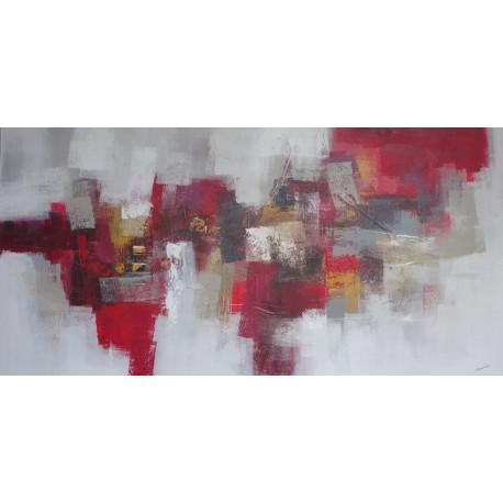 TABLEAU ABSTRAIT - HORIZONTAL-BLANC-ROUGE-200x100-Budi