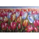 TABLEAU DECORATION MURALE FLEURS TULIPES-120x80 cm