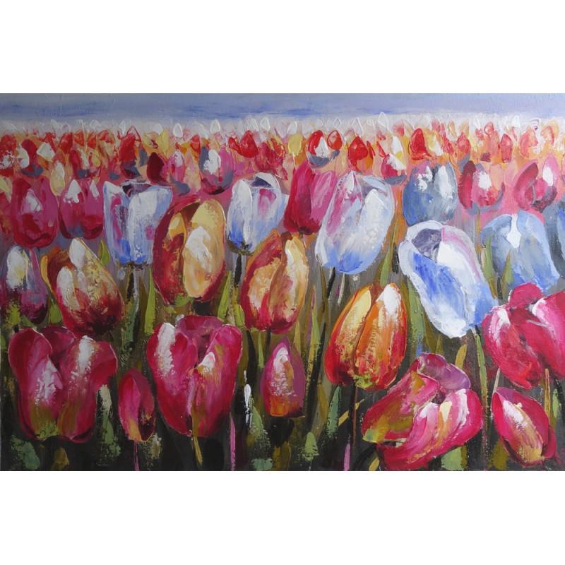 Tableau decoration murale fleurs tulipes 120x80 cm - Tableau decoration murale ...