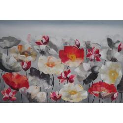 TABLEAU MURAL FLEURS DE LOTUS-120x80 cm