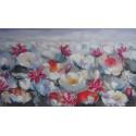 TABLEAU DECO FLORAL LOTUS- 140x80 cm
