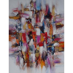 DARSANA- Tableau format vertical 90x120 cm