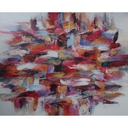 Tableau contemporain grand format - 150x120 cm - Darsana
