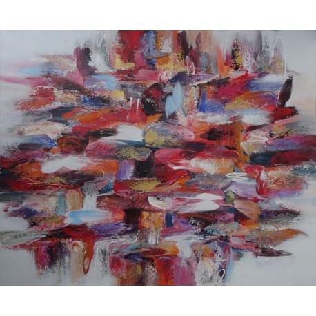 Tableau moderne design toile peinture et d coration murale - Tableau grand format contemporain ...