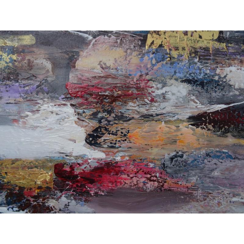 Darsana tableau peinture grand format 200x100 cm deco moderne loft - Tableau peinture grand format ...