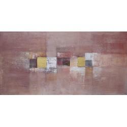 Tableau abstrait ton cannelle-120x60 cm- Suarsa