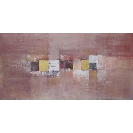 TABLEAU ABSTRAIT TON CANNELLE-120x60 - Suarsa