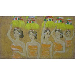 TABLEAU  OLD STYLE BALINESE OFFERINGS-140x80-Suarsa