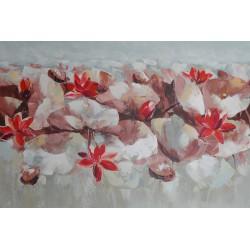 DECO CHAMBRE FLEURS DE LOTUS-120x80 cm