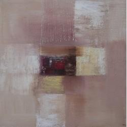 Tableau abstrait contemporain ton brun- 80x80 cm