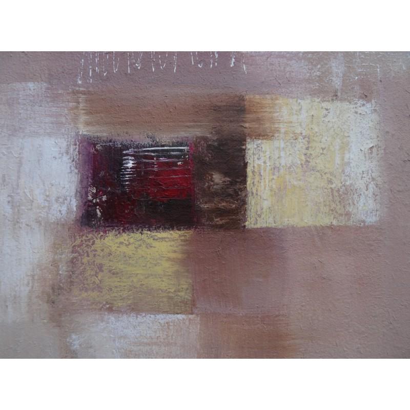 Tableau abstrait contemporain ton brun 80x80 cm - Tableau abstrait contemporain ...