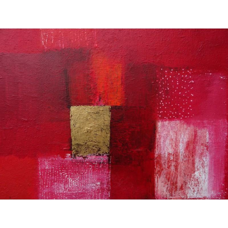 tableau abstrait contemporain rouge 80x80 suarsa. Black Bedroom Furniture Sets. Home Design Ideas