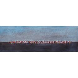 TABLEAU CONTEMPORAIN-MELASTI- 150x50- Suarsa
