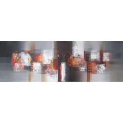 Tableau contemporain horizontal ton gris-150x50 cm