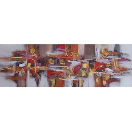 TABLEAU ABSTRAIT - TRIPTYQUE-150x50 - Darsana