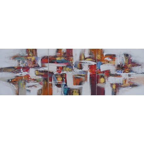 Triptyque contemporain 3 volets -180x60 cm- Darsana