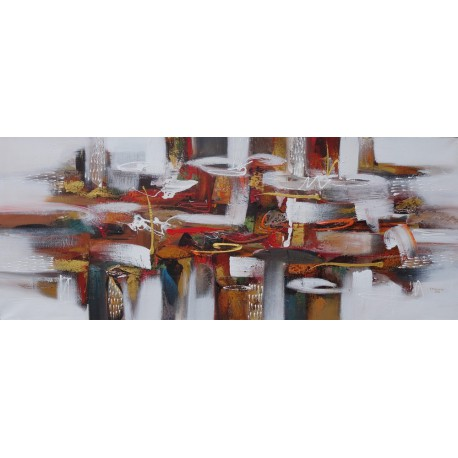 DARSANA- Tableau contemporain format horizontal- 200x80 cm