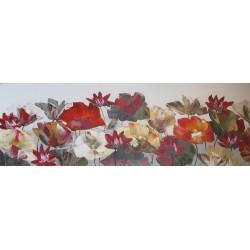 tableau décoration murale fleurs de lotus-150x50 cm horizontal