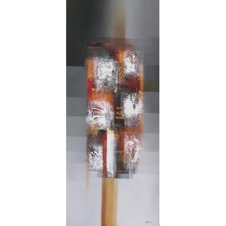 TABLEAU ABSTRAIT TON GRIS DEGRADE 120x50