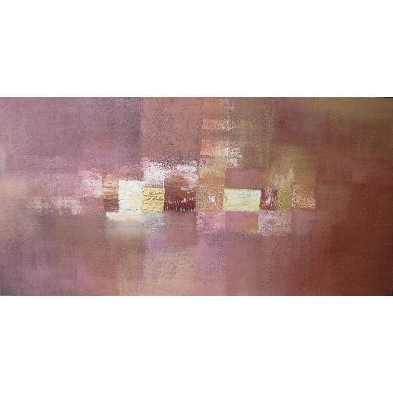 Suarsa tableau panoramique contemporain ton cannelle 200x100 cm - Grand tableau contemporain ...