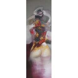 TABLEAU ABSTRAIT DECORATION MURALE -FEMME 150x50 cm