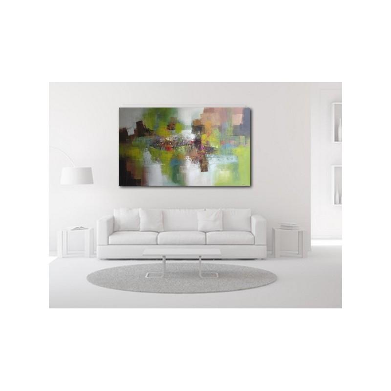 tableau vert xxl 200x120 cm peinture deco verte tr s grand format. Black Bedroom Furniture Sets. Home Design Ideas