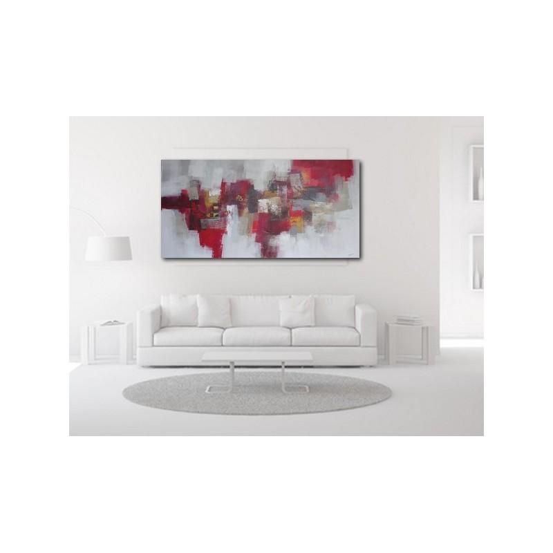 tableau peinture horizontal tr s grande taille 200x100 cm. Black Bedroom Furniture Sets. Home Design Ideas