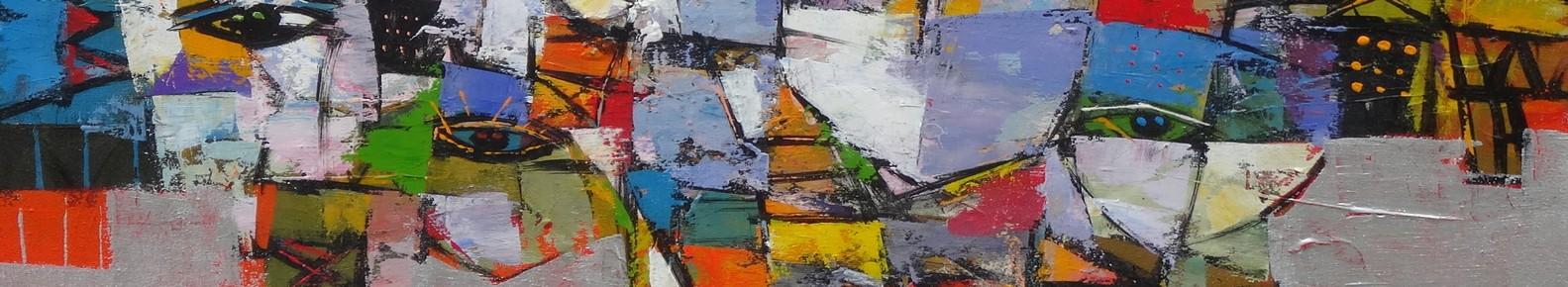 Galerie d 39 art en ligne tableaux uniques contemporains - Tableaux tryptiques contemporains ...